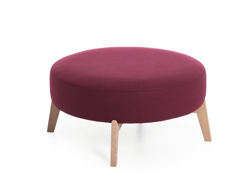 Round fabric pouf ISOLA 65/90 by Very Wood