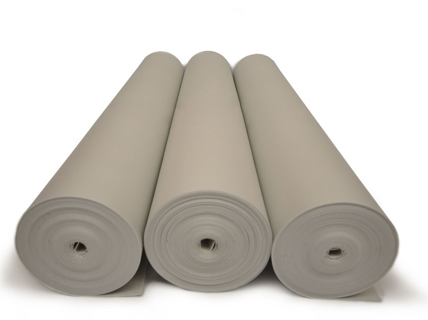 Polyethylene Impact insulation system ISOLDRUM MOUSSE by Isolmant