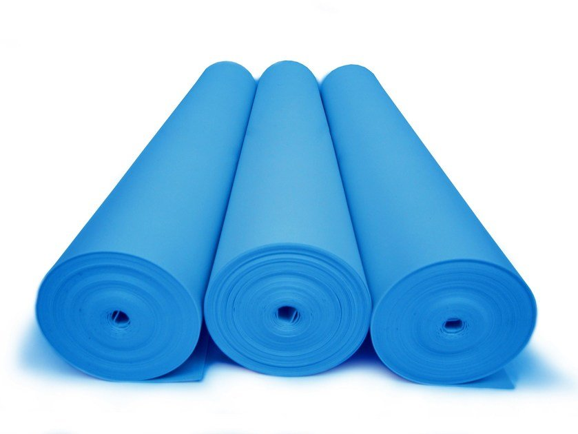 Polyethylene Impact insulation system ISOLDRUM ST BLU by Isolmant