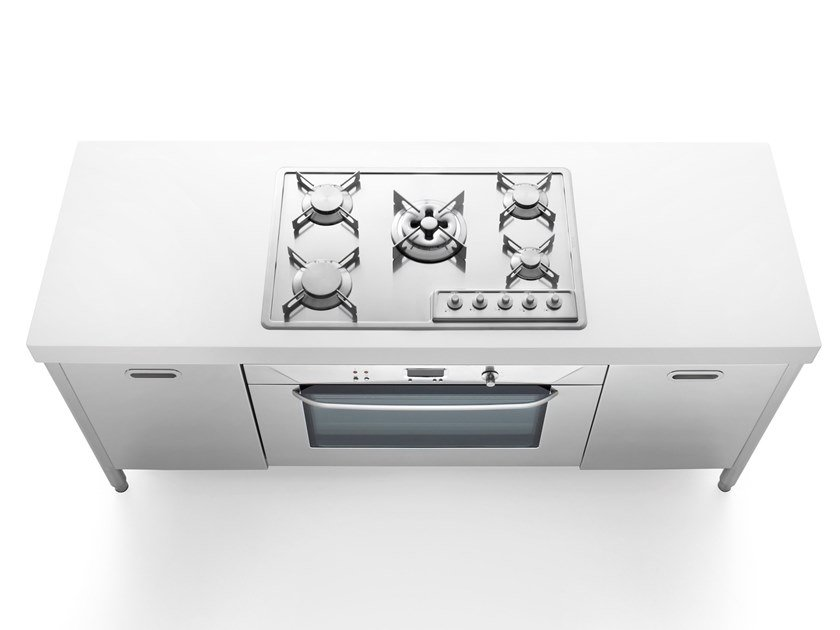 Professional stainless steel cooker ISOLE CUCINA 190 | Cooker by ALPES-INOX