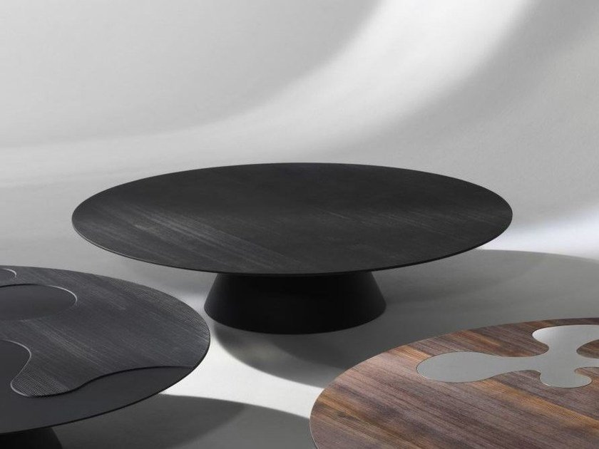 Round wooden coffee table for living room ISOLE | Wooden coffee table by ALBEDO