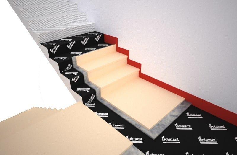 Trittschallschutzsystem für bodenbelag und treppe isolmant stairs