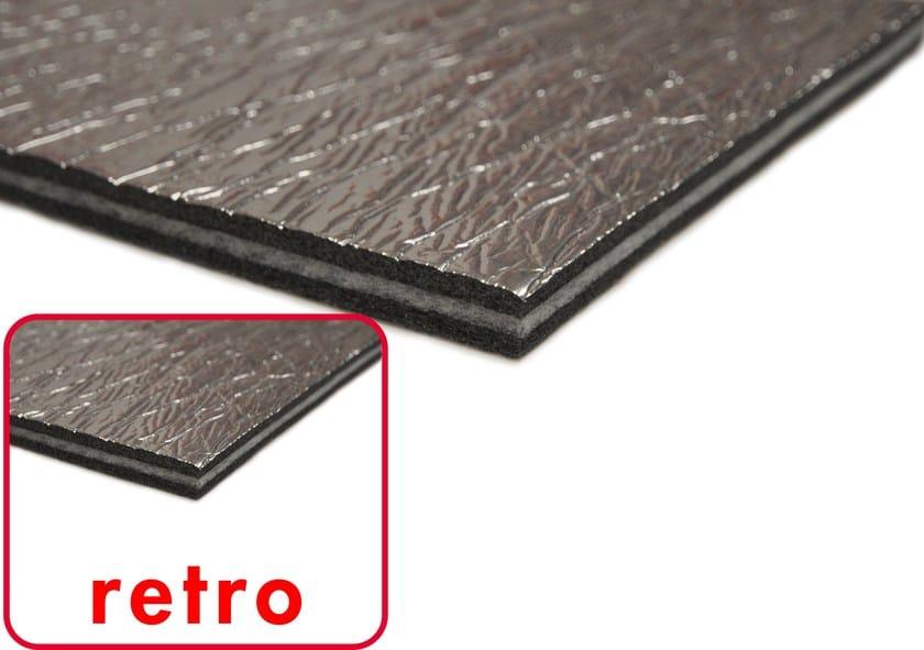 Cross-linked polyethylene thermal insulation felt ISOLMANT POLIMURO REFLEX by Isolmant