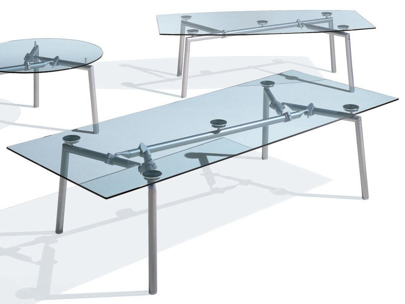 Rectangular glass meeting table ISOTTA | Rectangular meeting table by NEWTOM by Ultom