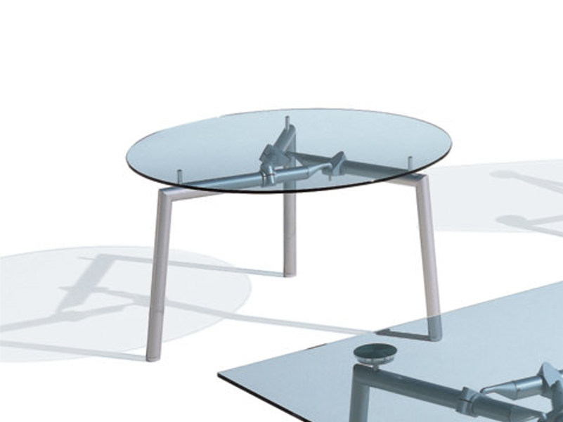ISOTTA Round Meeting Table Isotta Collection By NEWTOM By Ultom - Round glass conference table