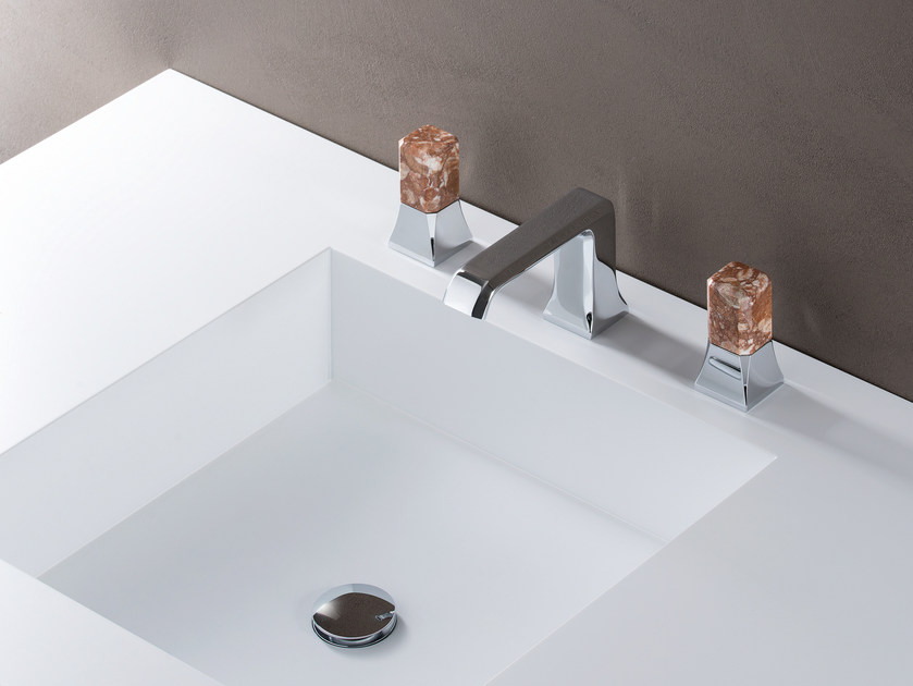 3 hole chromed brass washbasin tap with individual rosettes IT 205 51 MG SPECIAL by CRISTINA