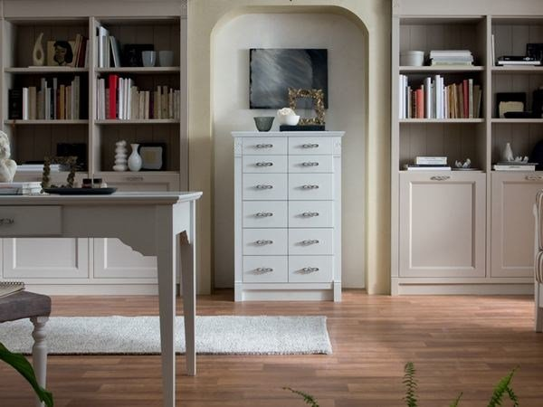Free standing wooden chest of drawers ITALIAN MOOD | Chest of drawers by Callesella Arredamenti