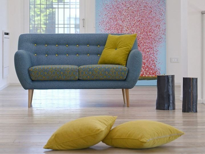 Tufted 2 seater fabric sofa ITALO by Gobbo Salotti