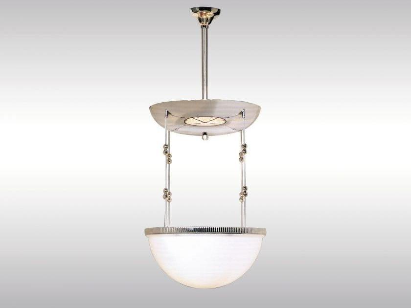 Lampada a sospensione in vetro in stile classico IVAN/35 by Woka Lamps Vienna