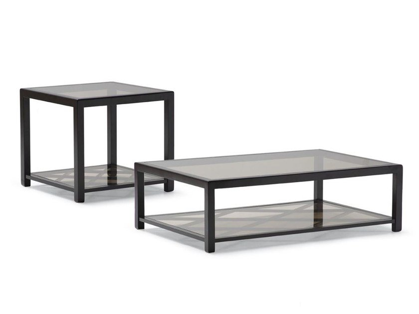 Glass coffee table for living room IVAN by OPERA CONTEMPORARY