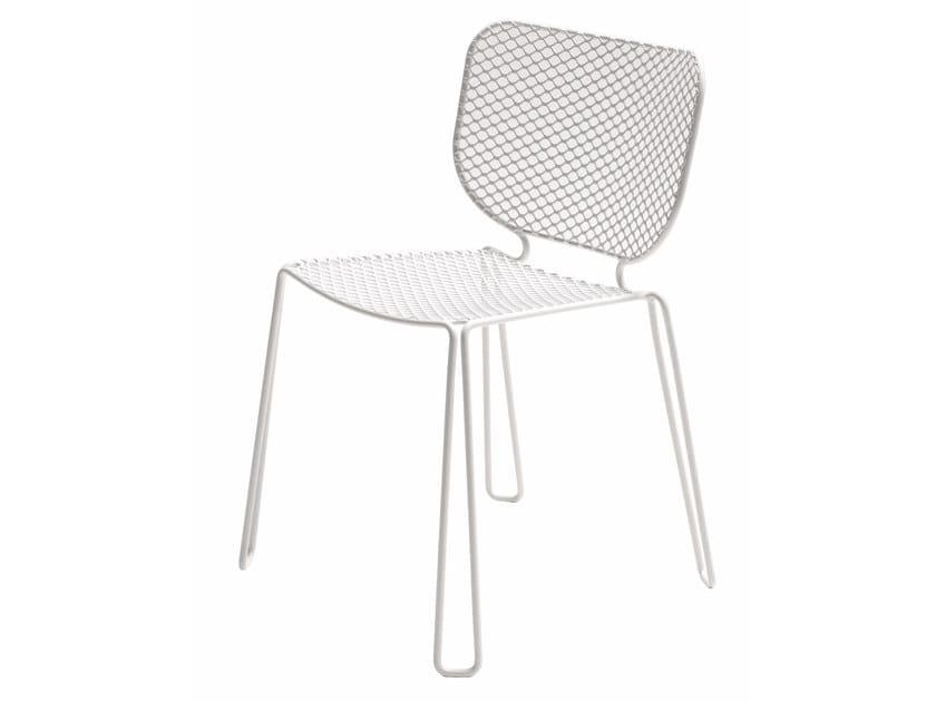 Sedia da giardino impilabile in acciaio IVY | Sedia by emu