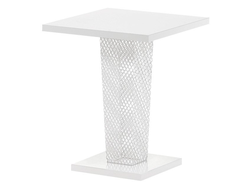 Square steel garden table IVY | Square table by emu