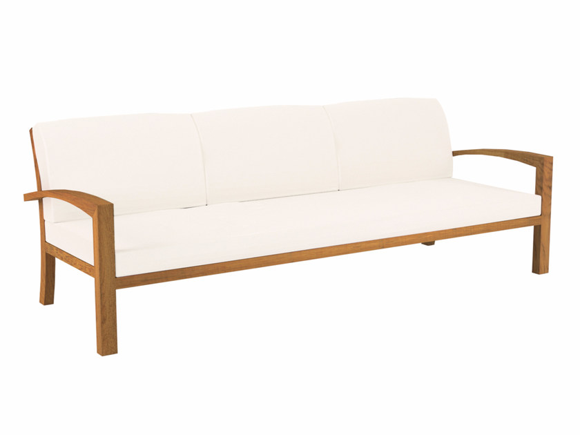 Teak garden bench with armrests IXIT | Garden bench with armrests by Royal Botania