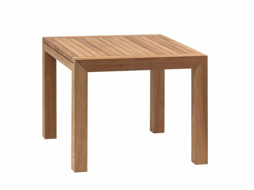 Square teak garden table IXIT | Square table by ROYAL BOTANIA