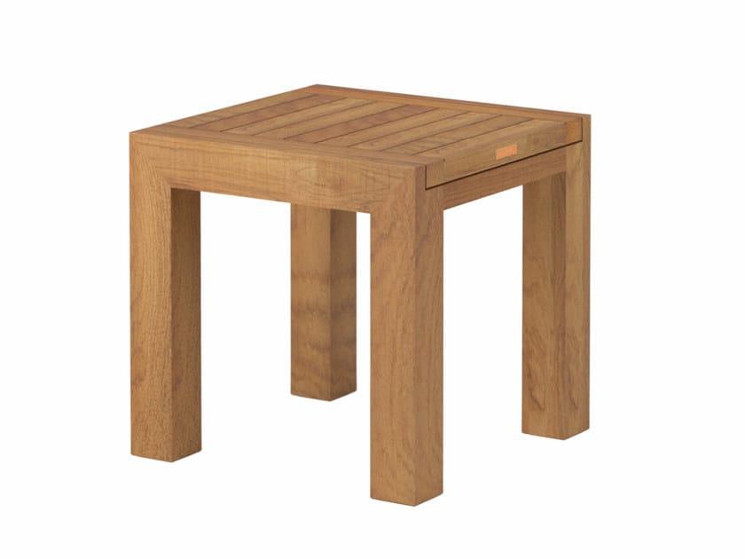 Low teak garden stool IXIT | Stool by Royal Botania