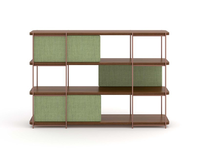 Walnut sideboard with upholstery doors JULIA JA01 by Momocca