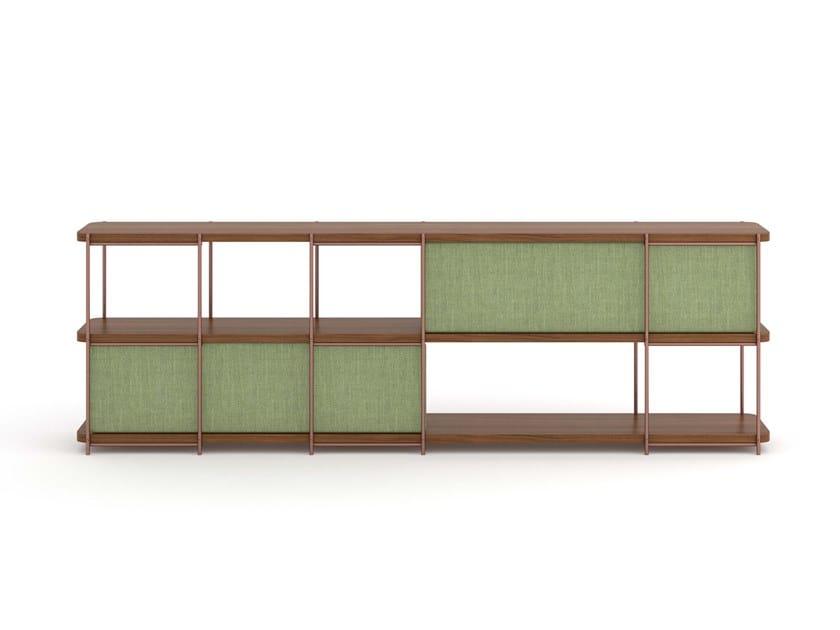 Modular walnut sideboard with upholstery panels JULIA JA03 by Momocca