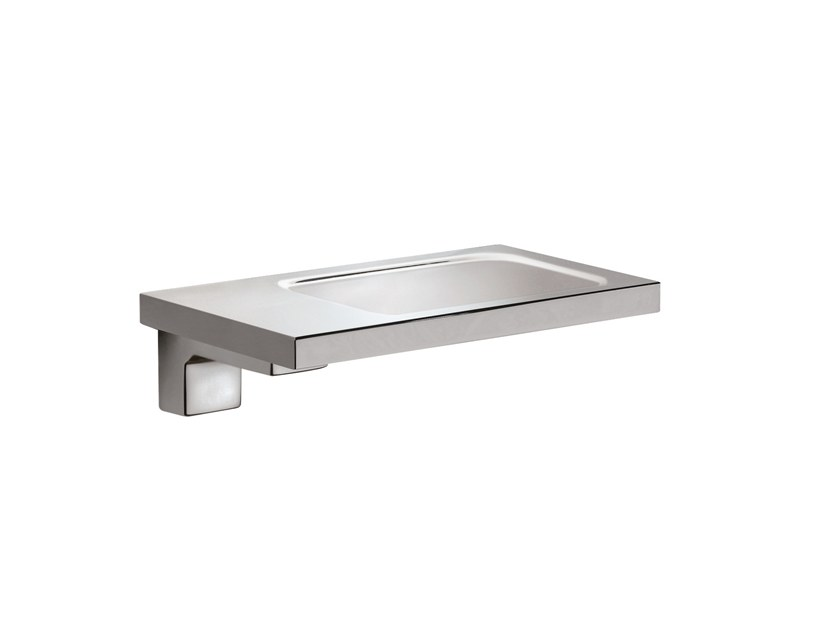 Wall-mounted chromed brass soap dish JACK 486001002 | Wall-mounted soap dish by pomd'or