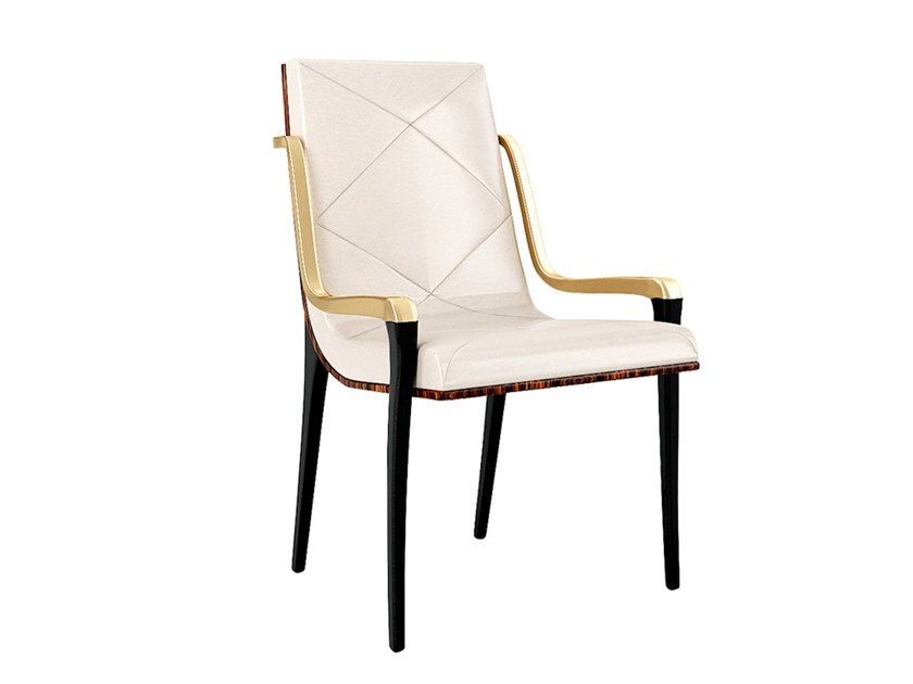 Fabric chair with armrests JACKIE   Chair with armrests by Jetclass