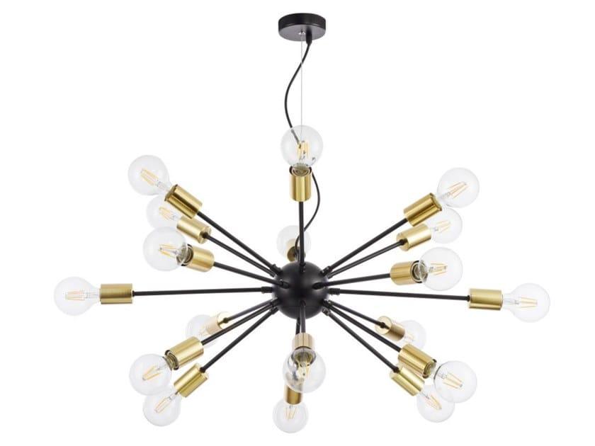 Direct-indirect light brass pendant lamp JACKSON by MAYTONI