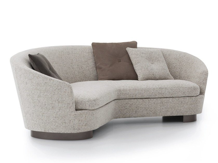 Jacques curved sofa jacques collection by minotti for Curved sofa table for sectional
