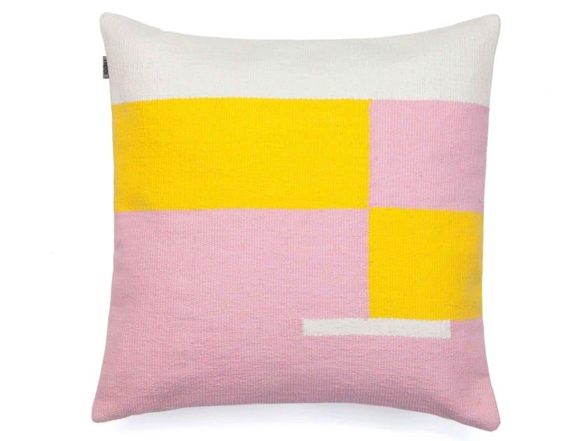 Cotton cushion JAMA-KHAN | Square cushion by Tiipoi
