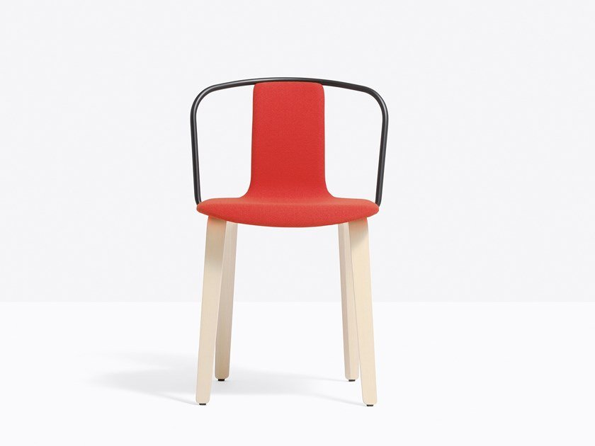 Fabric chair with armrests JAMAICA 2911 by PEDRALI