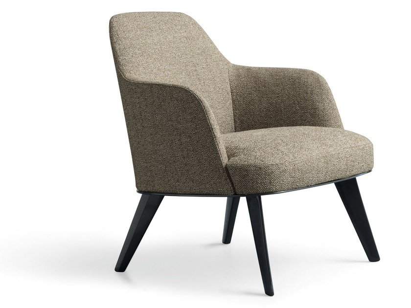 Fabric armchair with armrests JANE | Fabric armchair by poliform