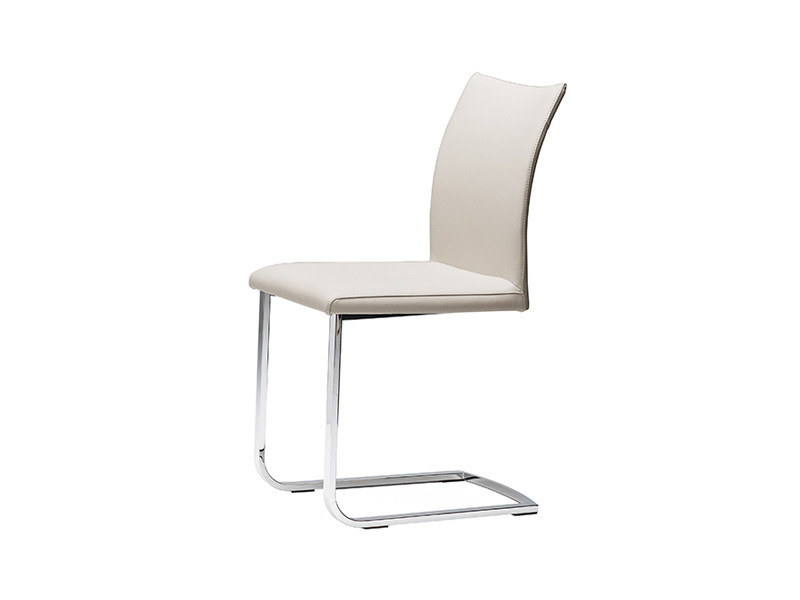 Cantilever upholstered leather chair JANET by Cattelan Italia
