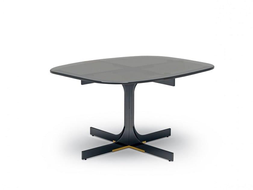 Glass coffee table with 4-star base JANUS | Coffee table with 4-star base by MisuraEmme
