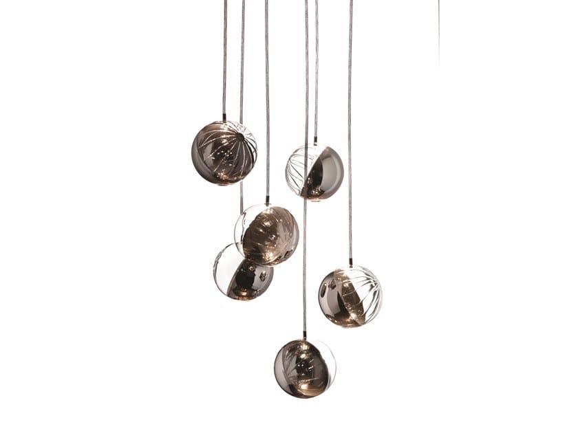 Blown glass pendant lamp JANUS by melogranoblu