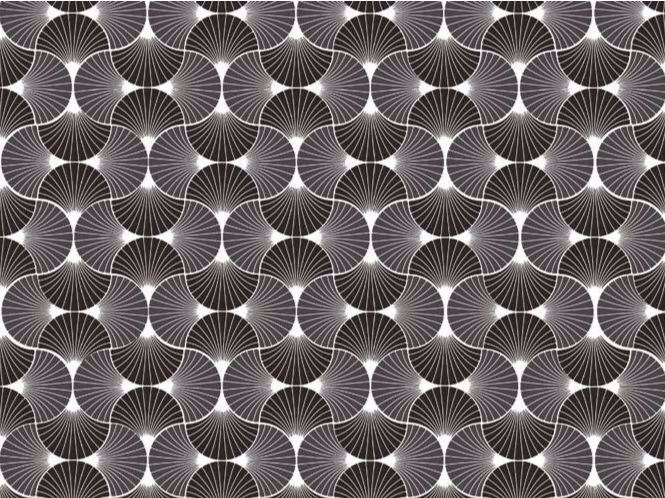 Motif optical wallpaper JAPANESE FAN by HEBANON