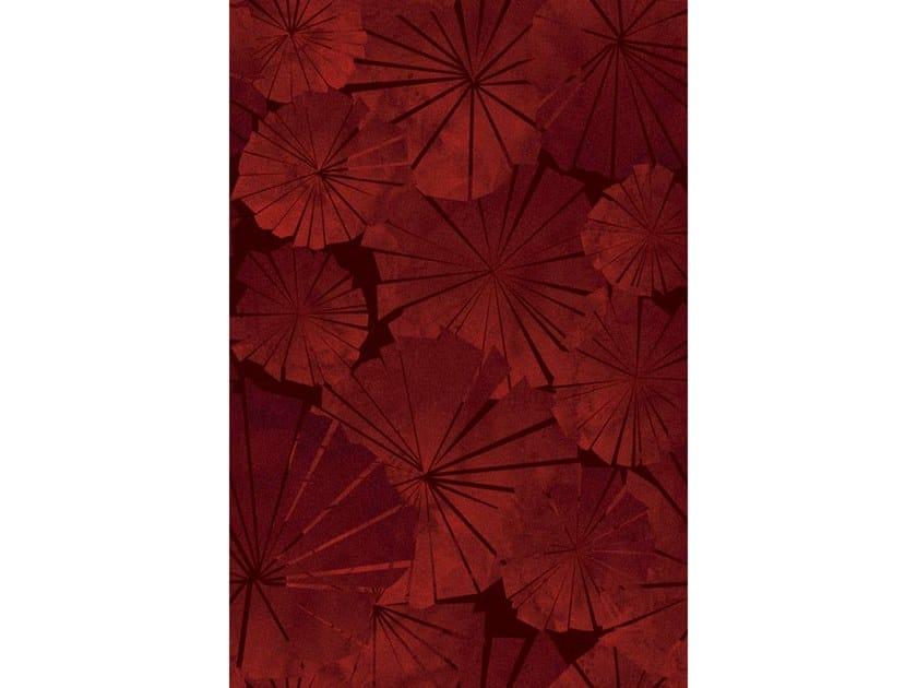 Broadloom printed carpet JAPANESE ROSES by Miyabi casa