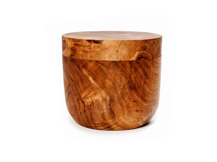Teak food-storage box JAR LOW by Bazar Bizar