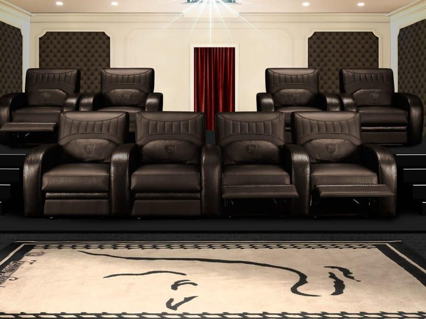 Poltrona per auditorium in pelle con schienale regolabile JARAMA | Poltrona per auditorium by Tonino Lamborghini Casa