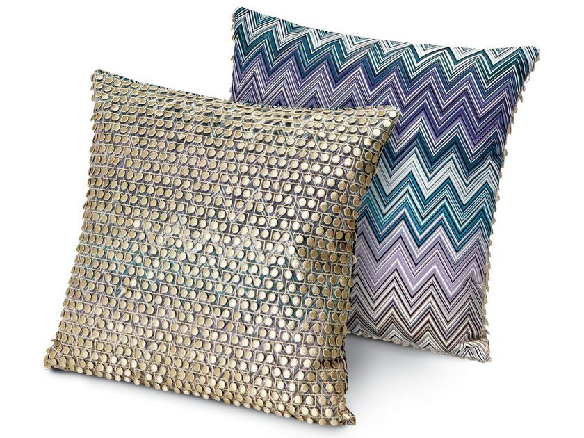 Motif embroidered fabric cushion JARRIS JAMILENA | Square cushion by MissoniHome