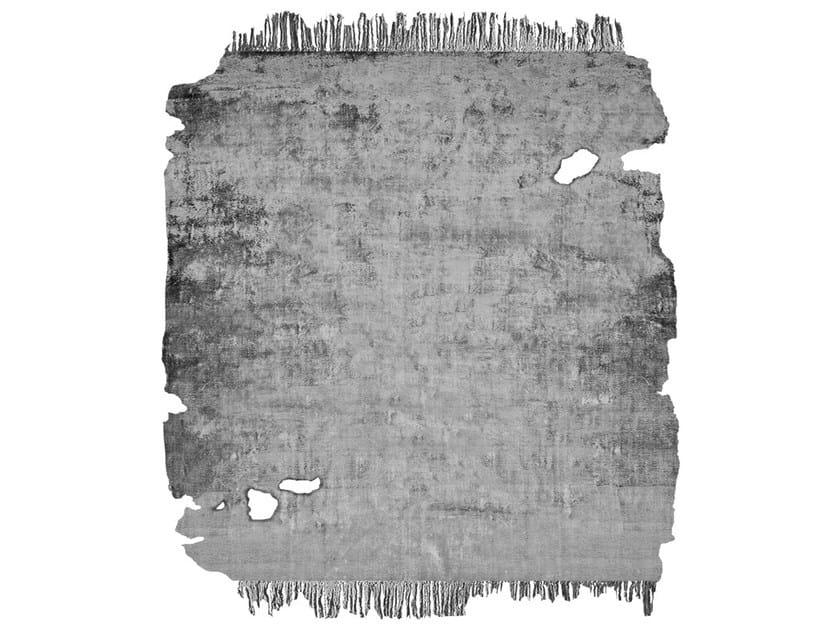 Handmade rug JAURE SILVER FROZEN CUT by HENZEL STUDIO