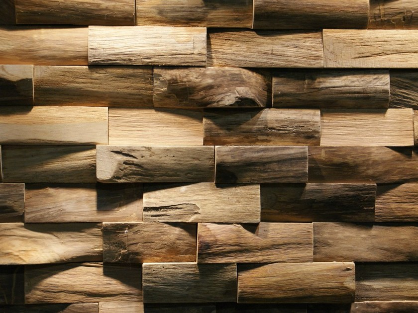 Reclaimed wood 3D Wall Tile JAVA SP LARGE by Teakyourwall