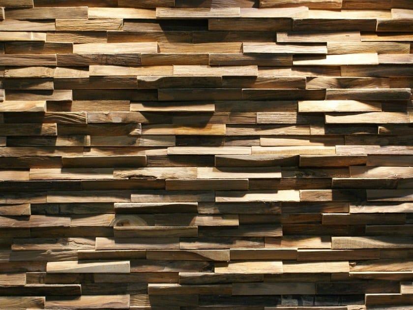 Piastrelle con superficie tridimensionale in legno di recupero