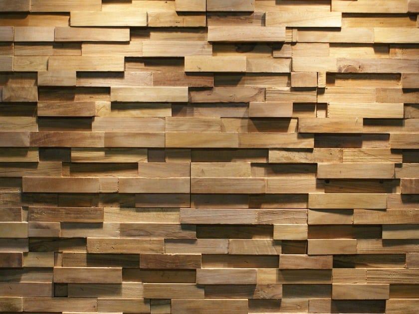 Reclaimed wood 3D Wall Tile JAVA SP STRAIGHT by Teakyourwall