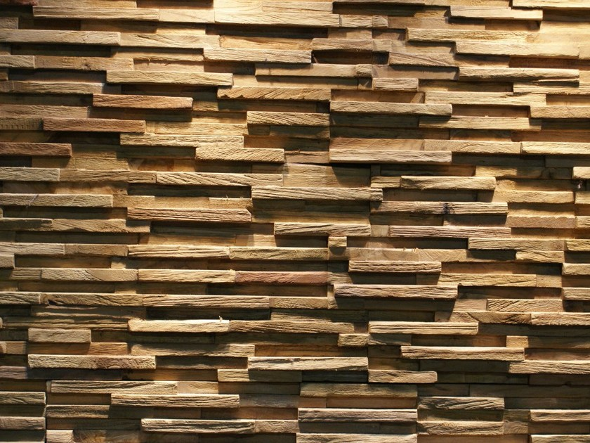 Reclaimed wood 3D Wall Tile JAVA SP TINY by Teakyourwall