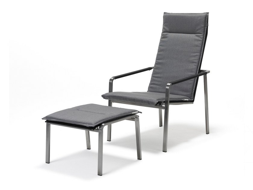 Recliner deck chair with armrests JAZZ | Deck chair by solpuri