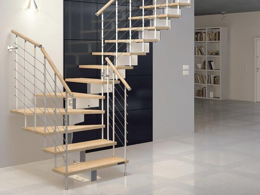 Modular beech Open staircase JAZZ SC by MOBIROLO