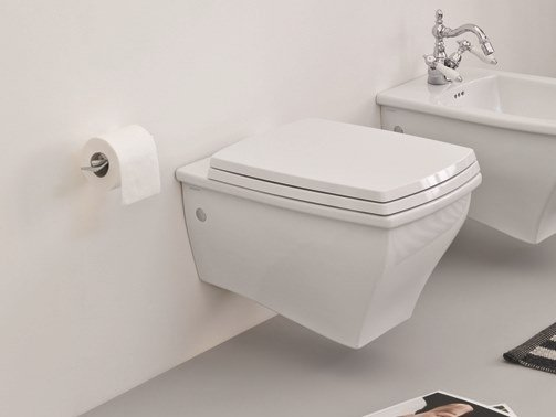 Wall-hung ceramic toilet JAZZ | Wall-hung toilet by Artceram