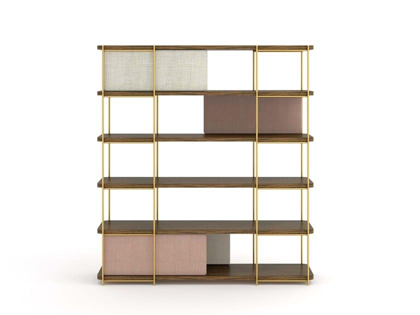 Modular bookcase of oak wood JULIA JE02 by Momocca