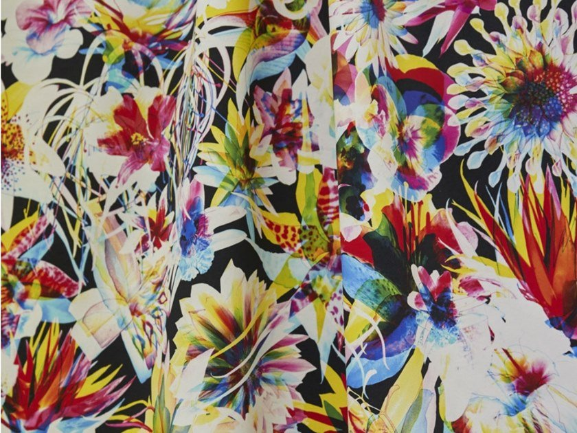 Tessuto stampato in cotone con motivi floreali JEAN PAUL GAULTIER - HAWAÏ by LELIEVRE