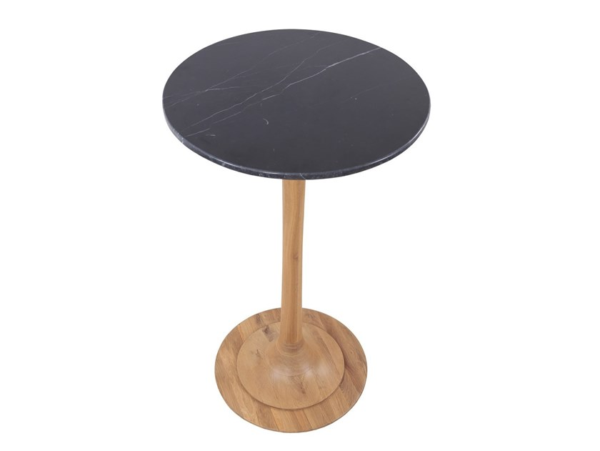 Round solid wood high table JEDINI | High table by ALANKARAM