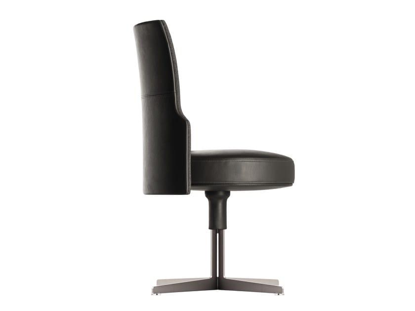 Leather chair with 4-spoke base JEFF | Chair by Poltrona Frau