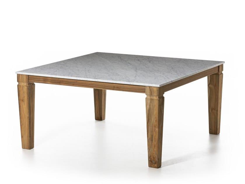 Tavolo da giardino quadrato JEKO 31 by Gervasoni