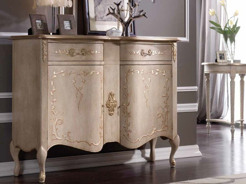 Solid wood sideboard with doors JENNY by Arvestyle